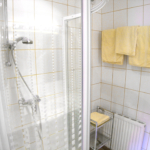bright bathroom with shower, holiday house Astrid