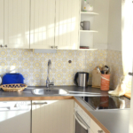 bright & fully equipped kitchenette at Ferienhaus Astrid