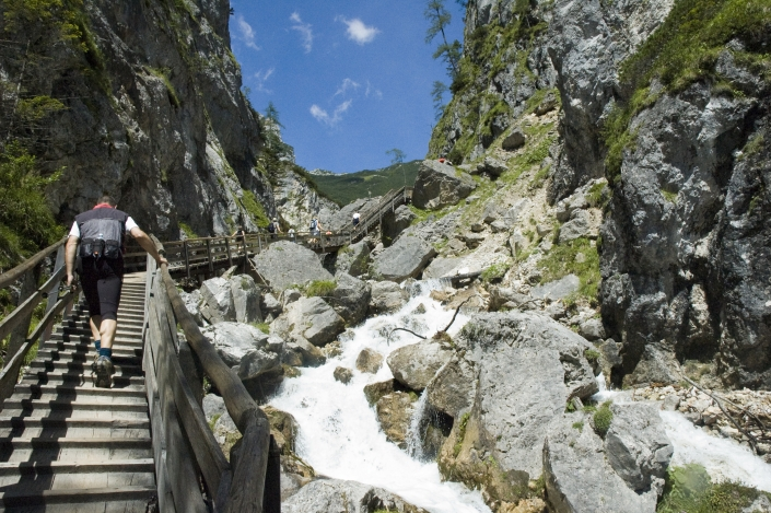Wild water gorge in the Silkar, Ramsau am Dachstein