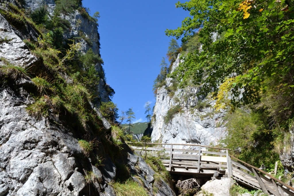 Movement in beautiful natural landscape-Silberkarklamm