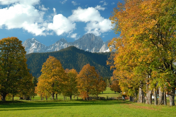 Autumn magic in Ramsau am Dachstein