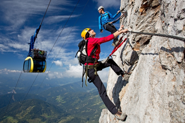 Via Ferrata Paradies on the Dachstein-Skywalk via ferrata