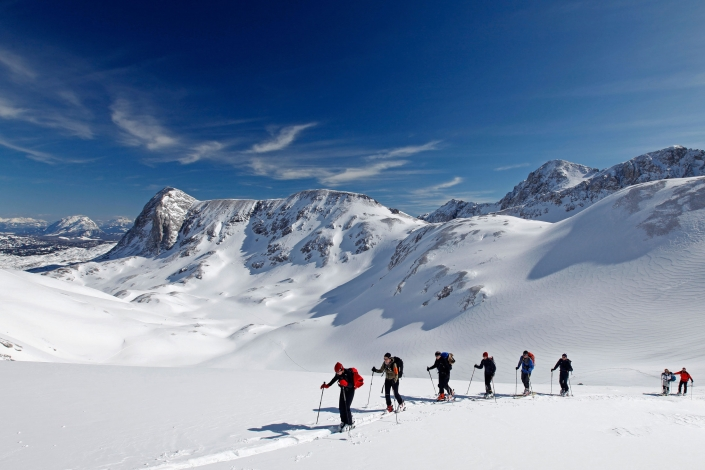 Ski touring experience on the Dachstein glacier