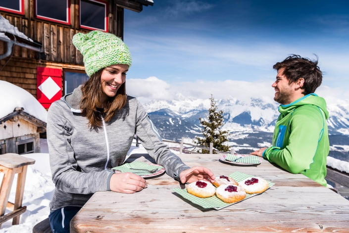 traditional delicacies on the ski huts and mountain pastures